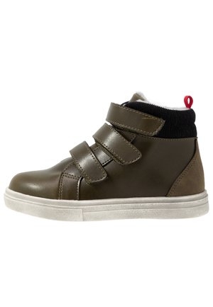 High-top trainers - khaki