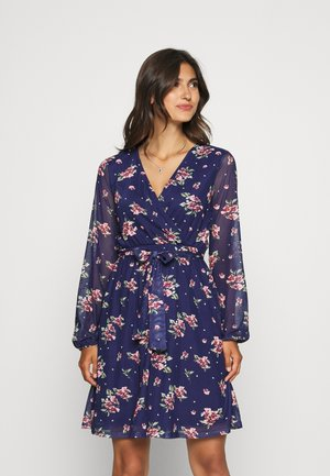 PRINTED DRESS - Denní šaty - dark blue