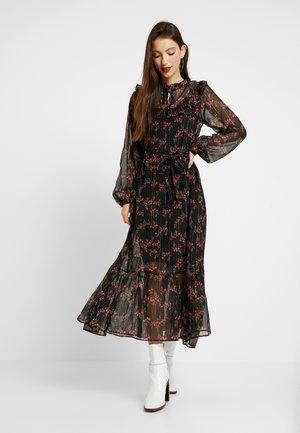 Maxi dress - black/fuchsia red