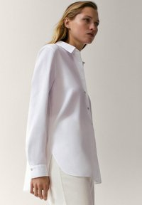 Massimo Dutti - UNIFARBENES - Skjortebluser - white - 5
