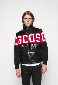 GCDS - LOGO MIX PUFFER - Winter jacket - black - 0
