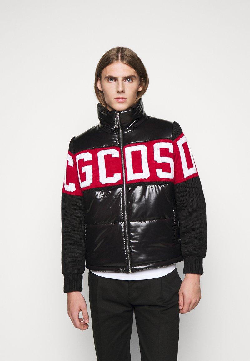GCDS - LOGO MIX PUFFER - Winter jacket - black