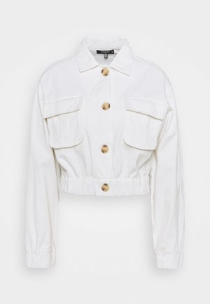 UTILITY POCKET SHACKET - Veste en jean - white