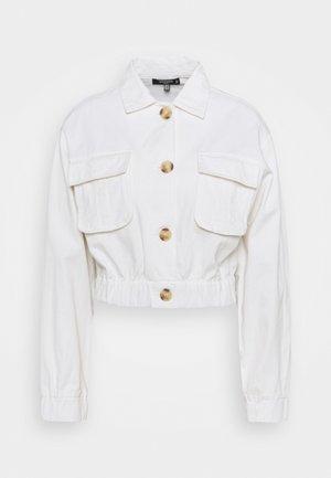 UTILITY POCKET SHACKET - Spijkerjas - white
