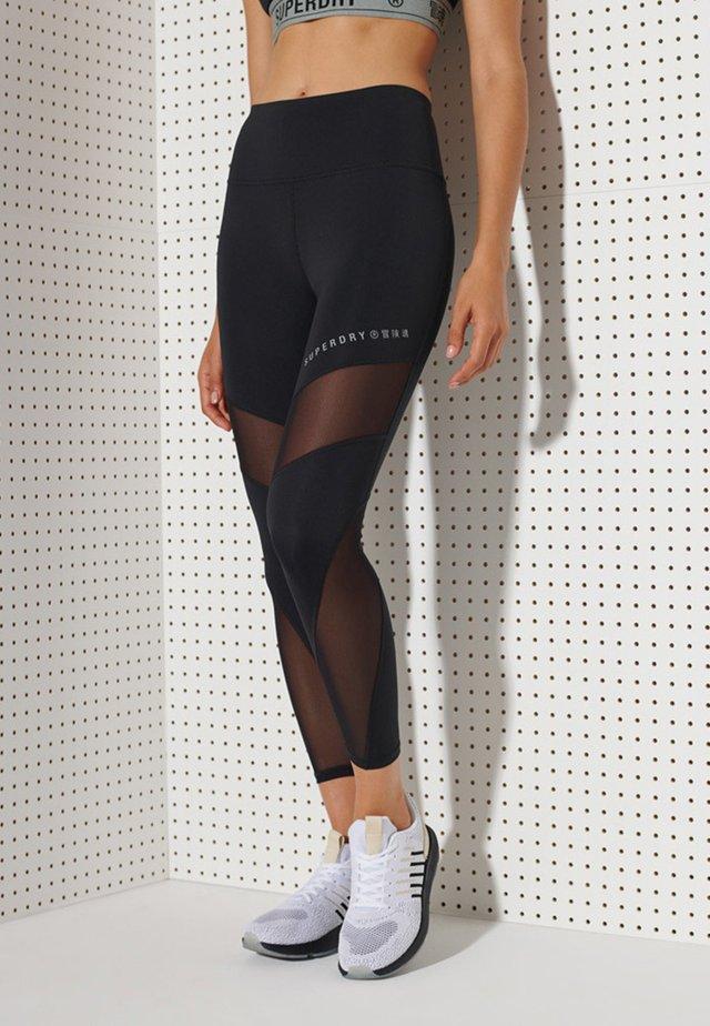 MESH LEGGINGS - Legging - black