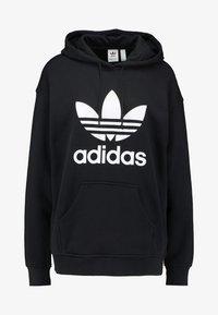 adidas Originals - HOODIE - Hoodie - black/white - 3