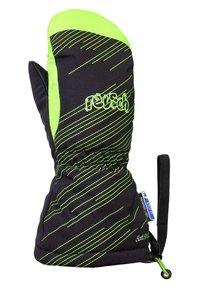 Reusch - Mittens - black green gecko - 1