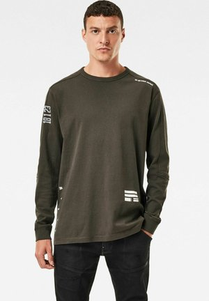 MULTI LOGO  - Long sleeved top - asfalt
