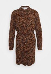 Vila - VIDANIA  - Shirt dress - brown/black - 0