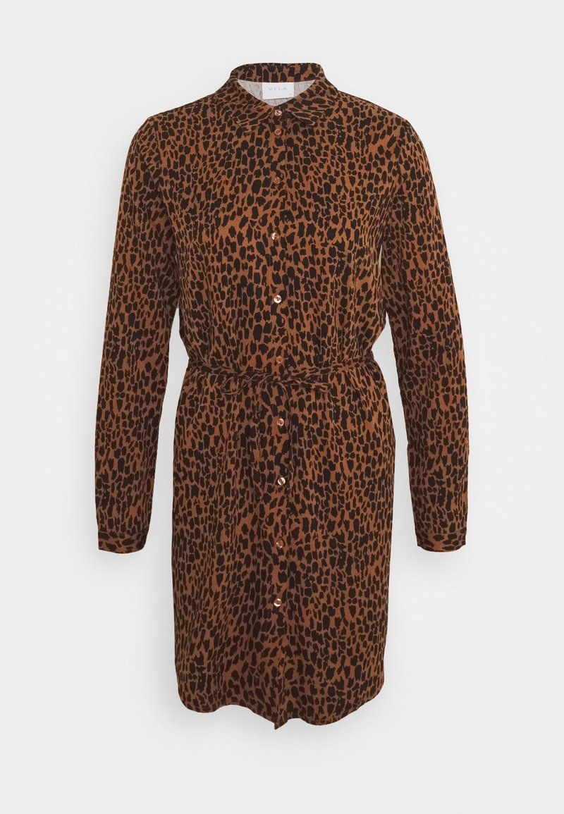 Vila - VIDANIA  - Shirt dress - brown/black