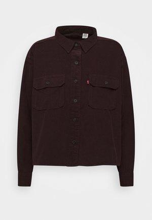 OLSEN UTILITY - Button-down blouse - bordeaux