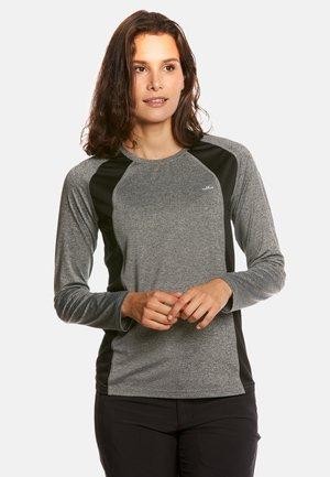ALLY - Sports shirt - grey mel/black