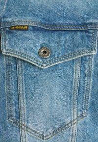 G-Star - 3301 SLIM - Denim jacket - denim/sun faded stone - 7