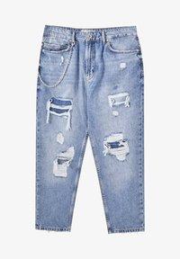 PULL&BEAR - Jeans relaxed fit - mottled dark blue - 6