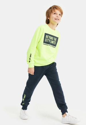 Fleece trui - bright yellow