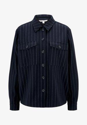 Button-down blouse - navy pinstripe