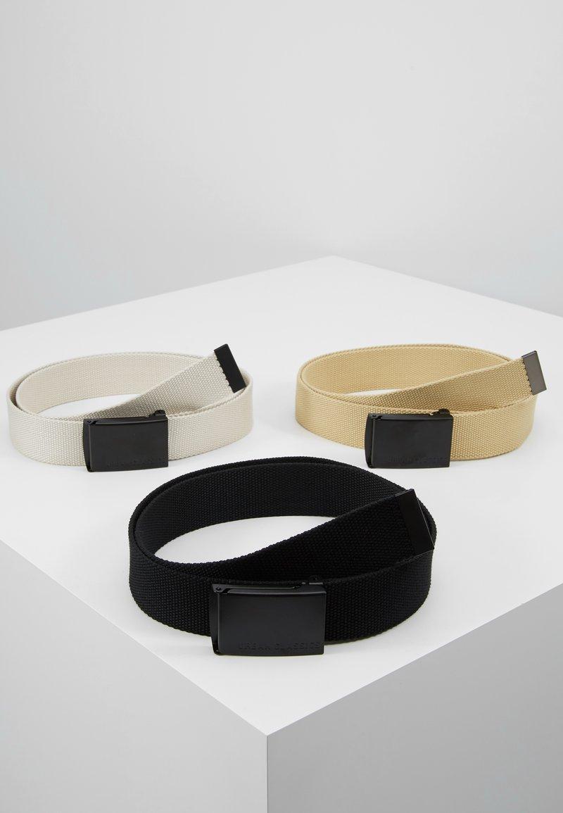 Urban Classics - BELT 3 PACK - Belt - black/sand/beige