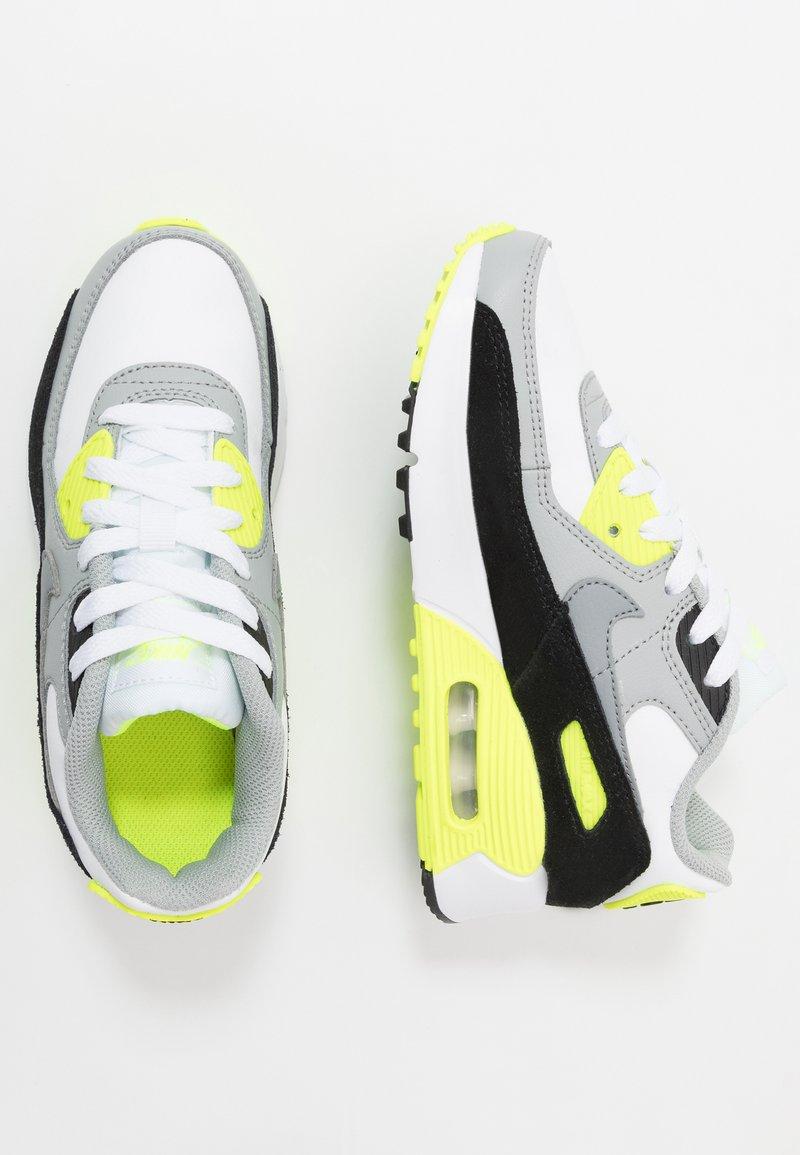 Nike Sportswear - AIR MAX 90 - Sneakersy niskie - white/particle grey/light smoke grey/volt