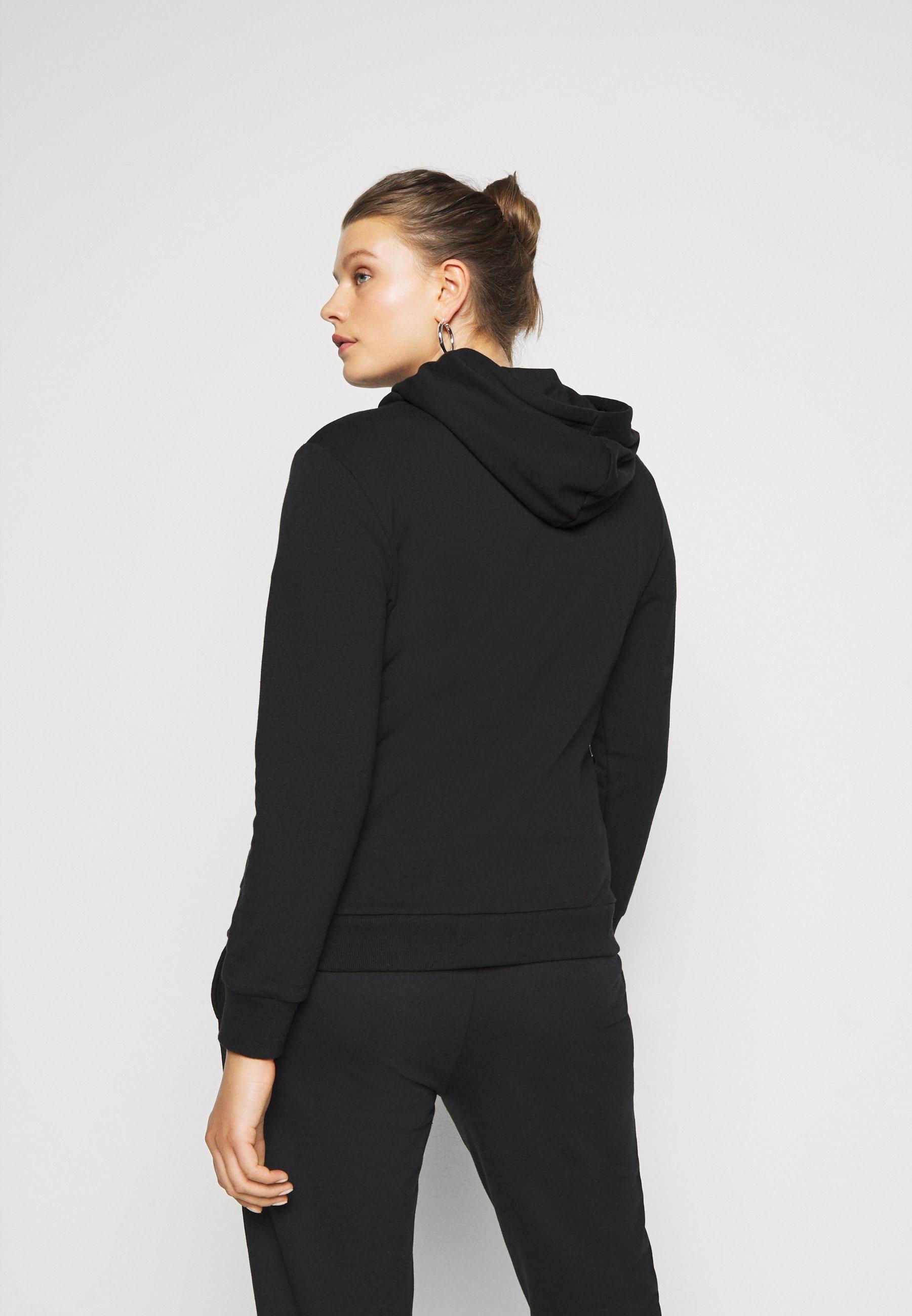 Even&Odd Curvy Zip-up hoodie - black 8MmFV