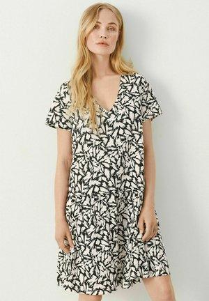 JODINA - Jersey dress - black scratch print