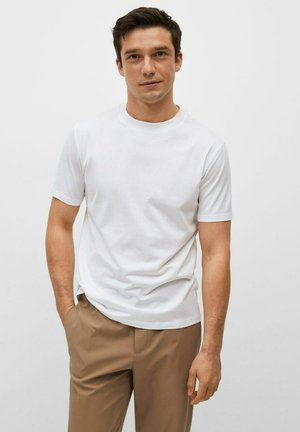 BELLOW - Basic T-shirt - blanc