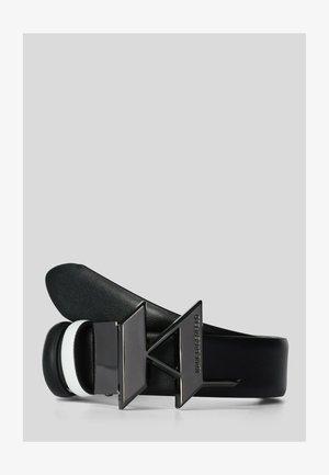 K/MONOGRAM REVERSIBLE - Ceinture - black white