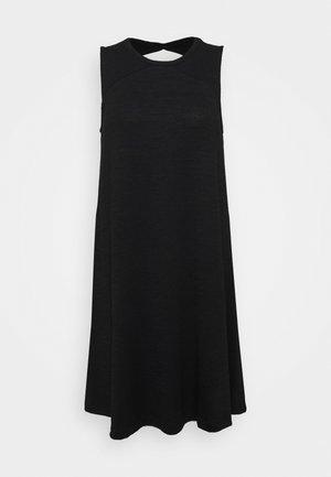 SOFTSPUN DRESS - Vestito di maglina - true black