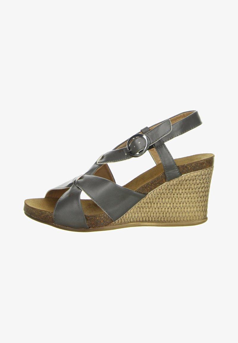 Inblu - Wedge sandals - anthrazit