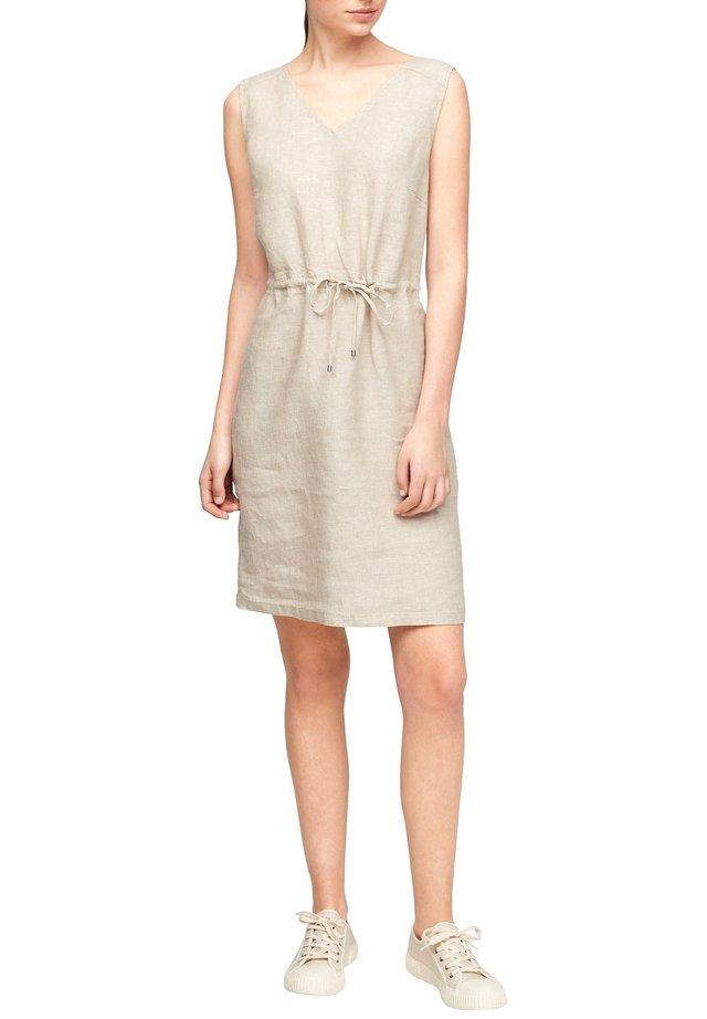 Korte jurk - beige melange
