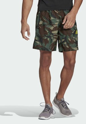 CAMOUFLAGE SHO DESIGNED2MOVE PRIMEGREEN TRAINING WORKOUT SHORTS - Sports shorts - green