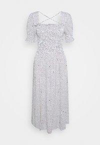 SMOCK SQUARE NECK DRESS - Day dress - off white