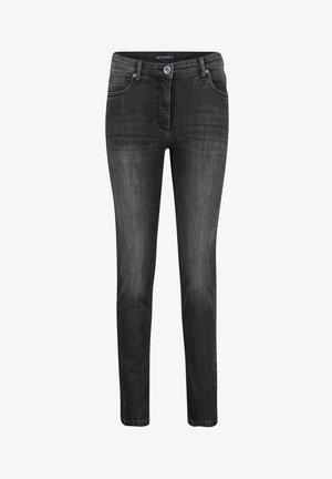 Slim fit jeans - dark grey used denim