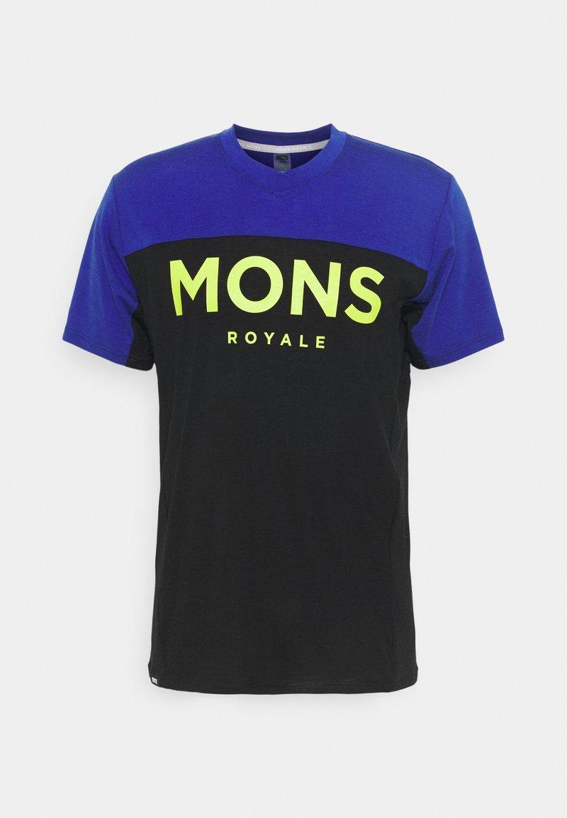 Mons Royale - REDWOOD ENDURO - Triko spotiskem - ultra blue/black