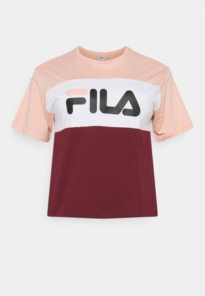 ALLISON TEE - Print T-shirt - tawny port/coral cloud/bright white