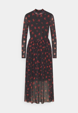 PRINTED MIDI DRESS - Day dress - black