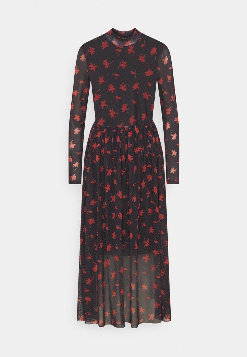 TOM TAILOR DENIM - PRINTED MIDI DRESS - Day dress - black