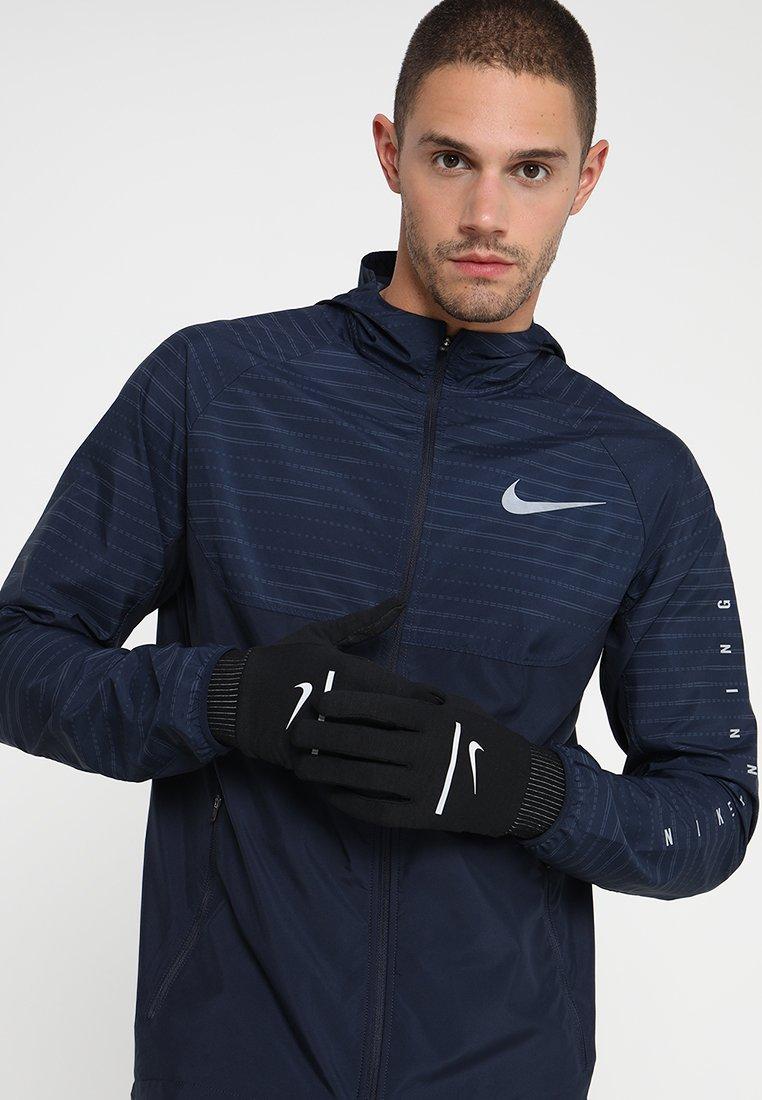 Nike Performance - HEATHERED SPHERE RUNNING GLOVES - Fingervantar - black/silver