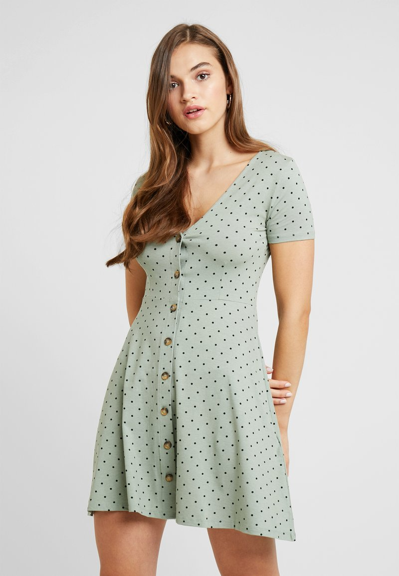 Envii - ENMUSIC DRESS - Jersey dress - light green/black
