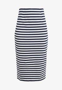 J.CREW - Pouzdrová sukně - cabo stripe navy - 3