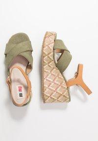 mtng - Sandály na vysokém podpatku - sandys natural/verde claro - 3