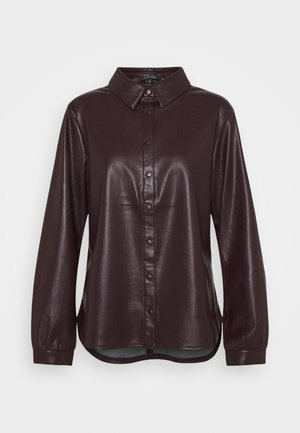 Button-down blouse - plum