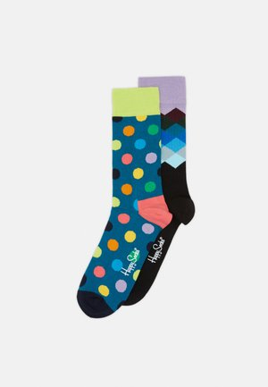 BIG DOT FADED DIAMOND 2 PACK - Socks - blue/aqua