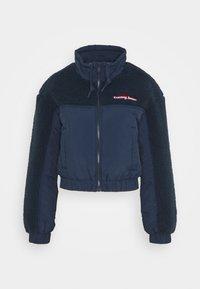 Tommy Jeans - MIX MEDIA JACKET - Light jacket - twilight navy - 0