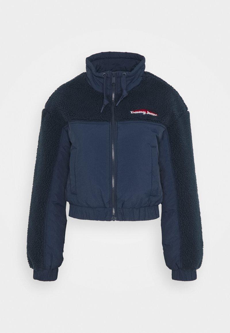 Tommy Jeans - MIX MEDIA JACKET - Light jacket - twilight navy