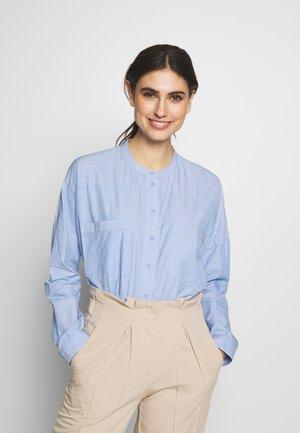Button-down blouse - blue lavender