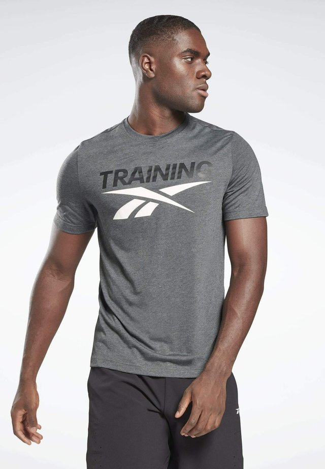 UNITED BY FITNESS SPEEDWICK WORKOUT GRAPHIC - T-shirt sportiva - grey