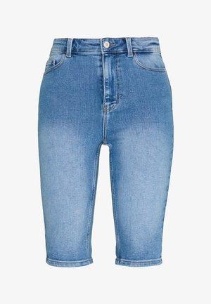 PCKAMELIA  - Denim shorts - light blue denim