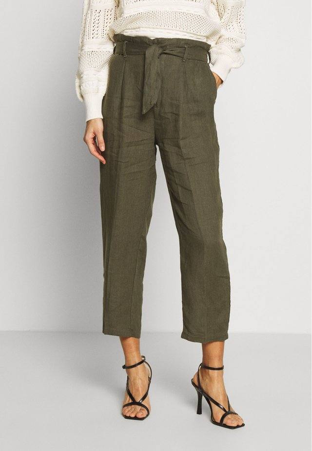 COMFY UNI - Spodnie materiałowe - olive