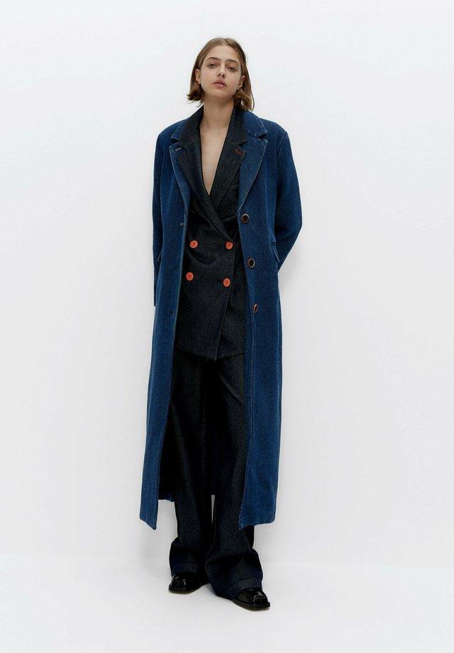 Halflange jas - blue