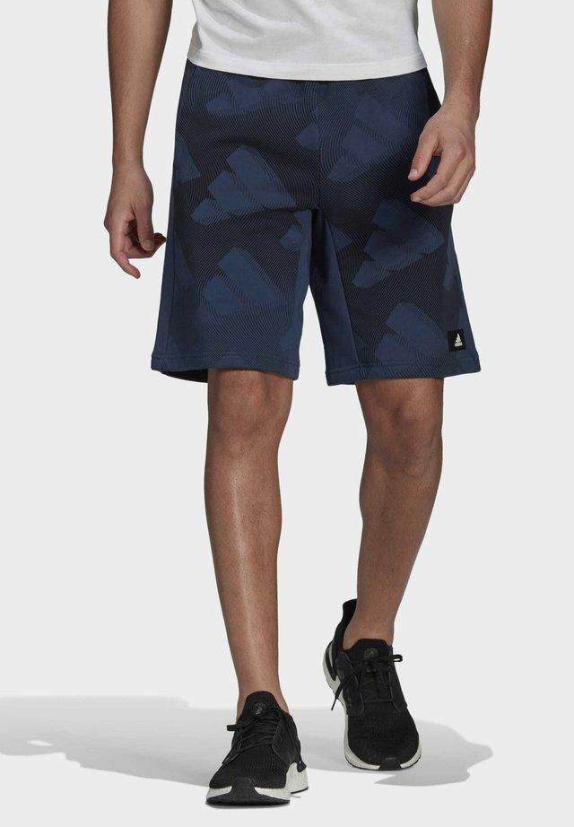 ADIDAS SPORTSWEAR GRAPHIC SHORTS - Pantaloncini sportivi - blue